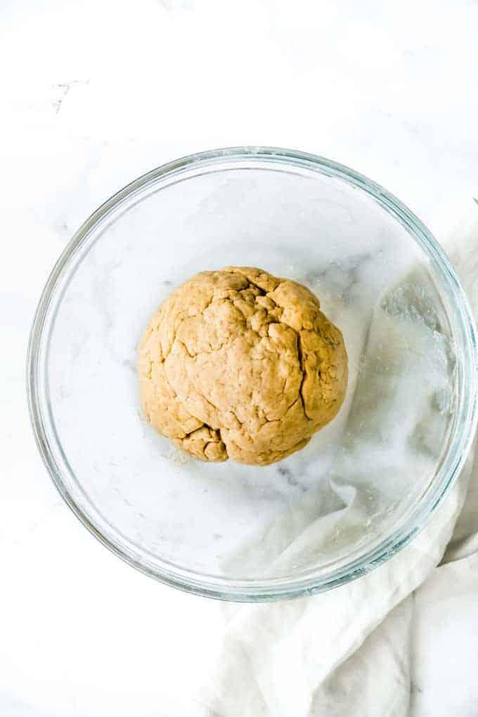 dough ball for hot cross buns
