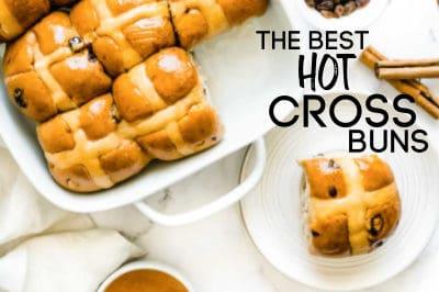 vegan hot cross buns