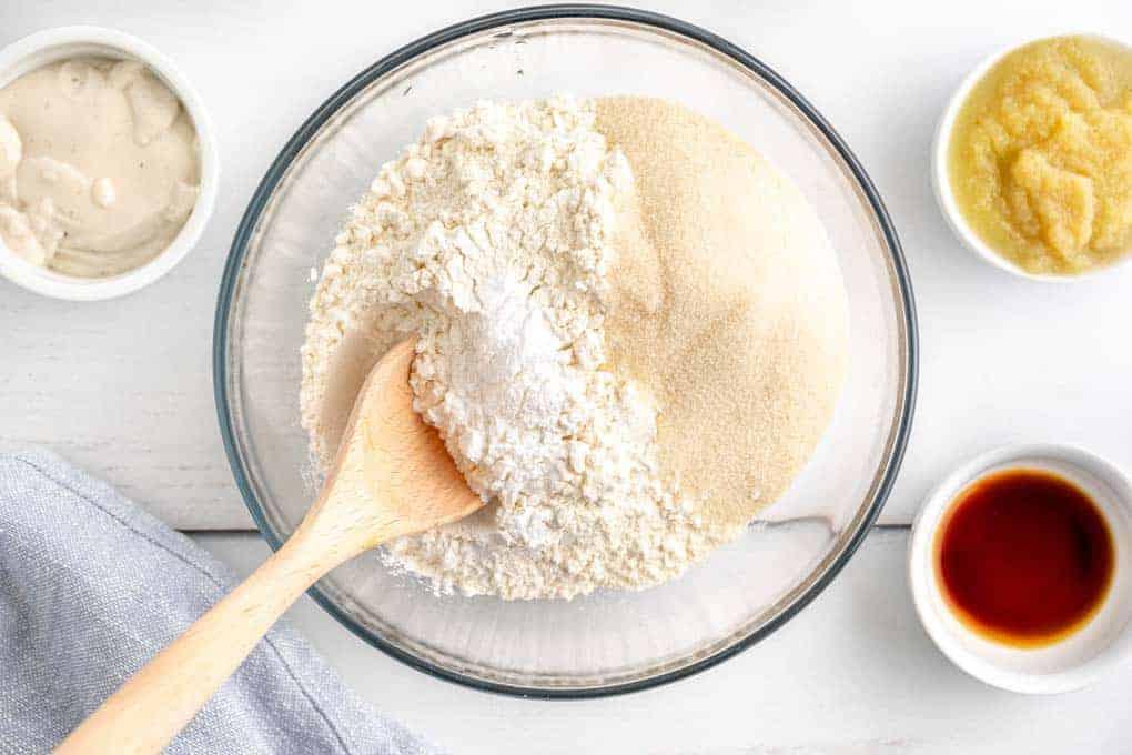 dry ingredients for lemon loaf