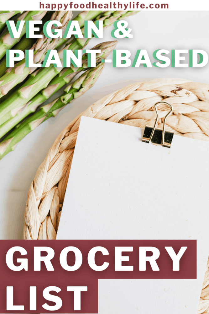 plant-based grocery list