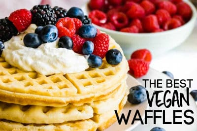 THE BEST PLANT BASED WAFFLES