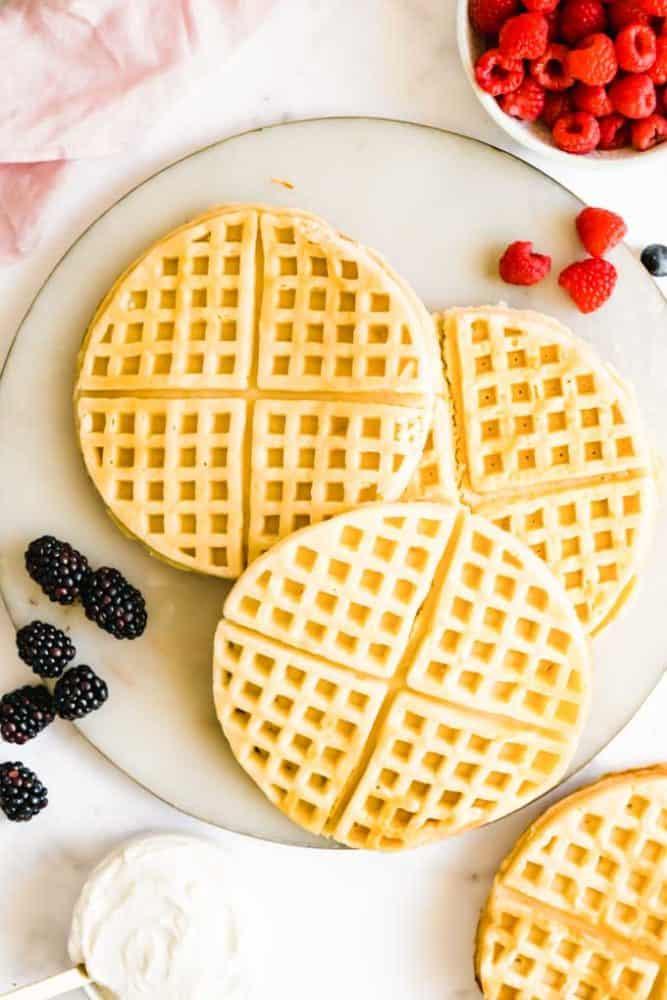 plant based waffles