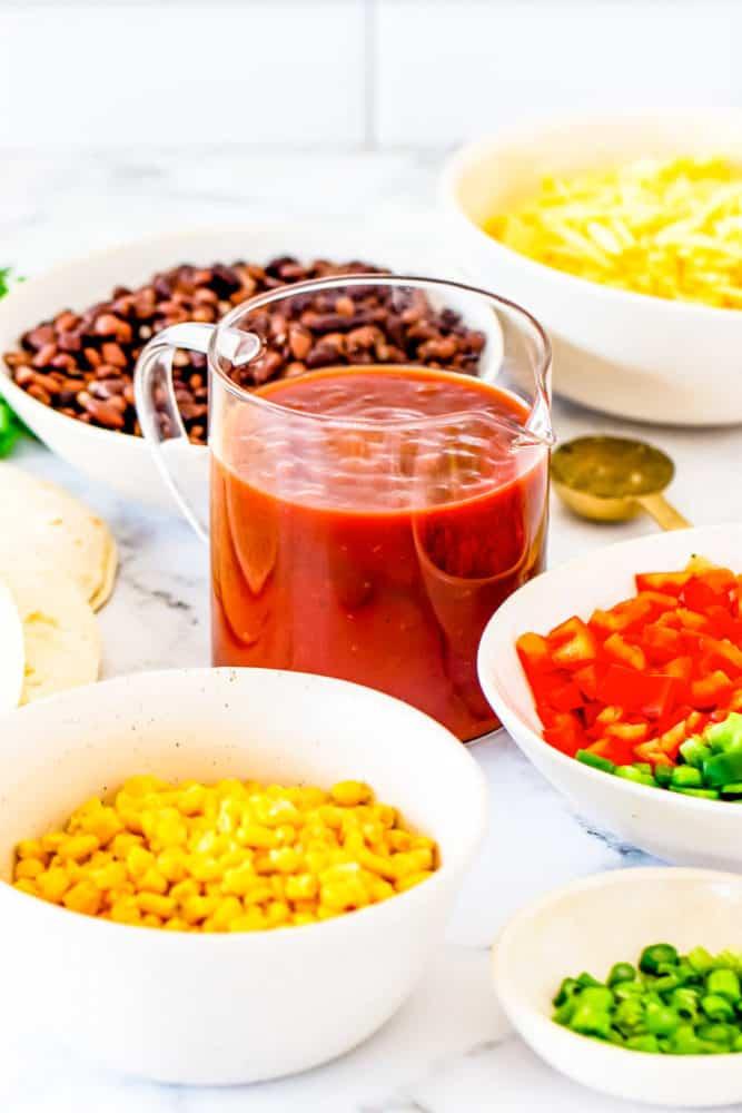ingredients needed for black bean enchilada casserole