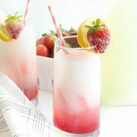 spiked frozen strawberry lemonade