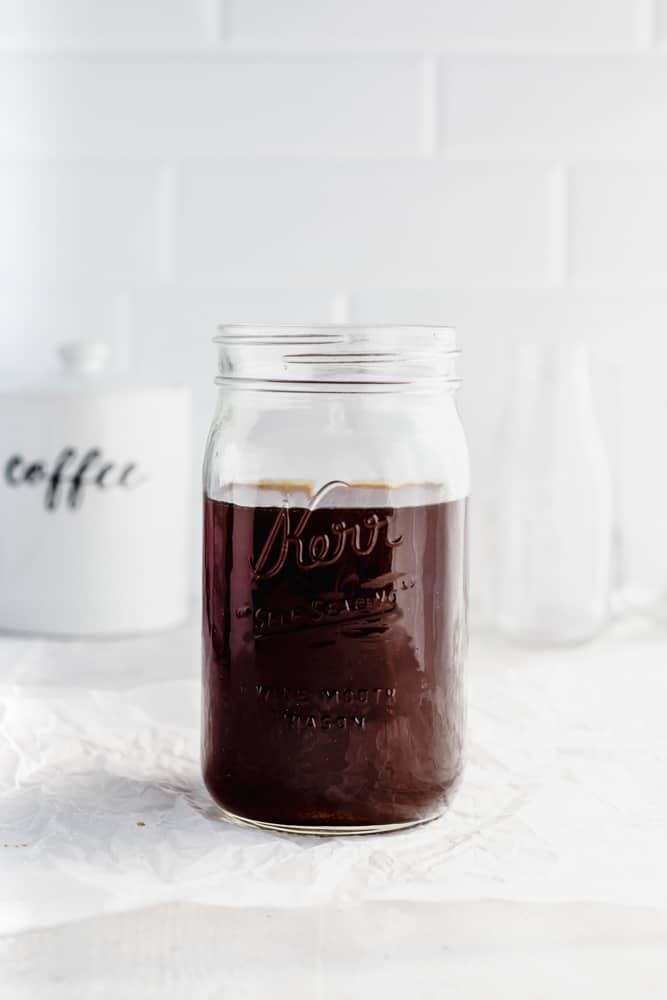 jar of cold brewed coffee