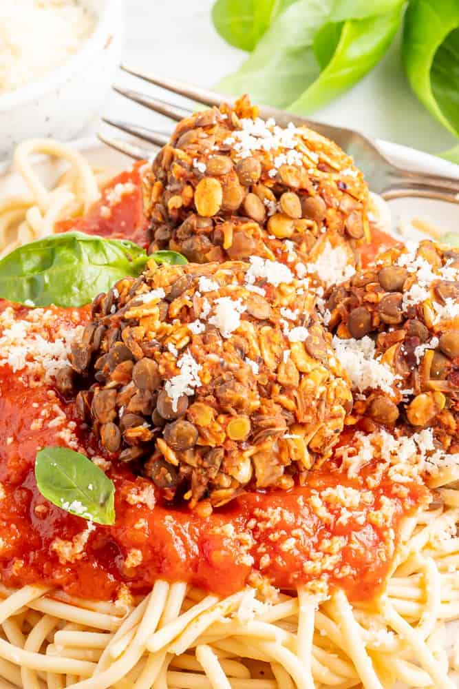 close up shot of meatless meatballs
